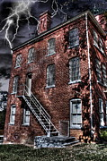 Creepy Digital Art Metal Prints - The Old Jail Metal Print by Dan Stone