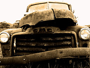 Black And White Photography Metal Prints - The Old Jalopy . 7D8396 Metal Print by Wingsdomain Art and Photography