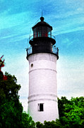 Lighthouse Digital Art - The Old Key West Lighthouse by Bill Cannon