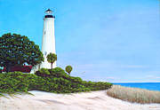 Florida Panhandle Framed Prints - The Old Lighthouse Framed Print by Luis Nunez