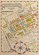 Old Map Mixed Media Prints - The Old Map of New Town Print by Zbigniew Rusin