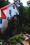 The Old Mill 1886 In Cherokee North Carolina - II  Print by Susanne Van Hulst