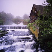The Old Mill Print by Len Rue Jr and Photo Researchers