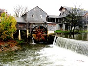 Signed Digital Art Posters - The Old Mill Poster by Suzanne  McClain