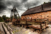 Wood Wheel Framed Prints - The Old Mine Framed Print by Adrian Evans