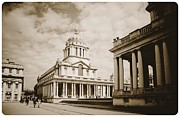Royal Naval College Metal Prints - The Old Naval College at Greenwich Metal Print by Brian Benson