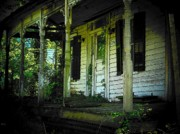 Old Houses Metal Prints - The Old Porch Metal Print by Joyce L Kimble
