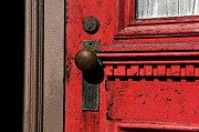 Knob Digital Art Prints - The old red door Print by David Lee Thompson