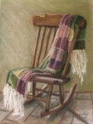 Rocking Chairs Pastels Framed Prints - The Old Rocker Framed Print by Elizabeth  Ellis