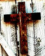 Christianity Originals - The Old Rusted Cross by Wayne Potrafka