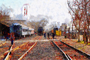 Rail Digital Art - The Old Sacramento Central Train Depot . 7D11636 by Wingsdomain Art and Photography