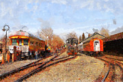 Rail Digital Art - The Old Sacramento Central Train Depot . 7D11513 by Wingsdomain Art and Photography