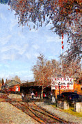 Rail Digital Art - The Old Sacramento Central Train Depot . 7D11527 by Wingsdomain Art and Photography