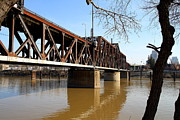 Sacramento Southern Prints - The Old Sacramento Southern Pacific Train Bridge . 7D11426 Print by Wingsdomain Art and Photography