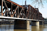 Sacramento Southern Prints - The Old Sacramento Southern Pacific Train Bridge . 7D11427 Print by Wingsdomain Art and Photography