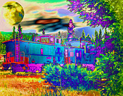 Merged Photo Prints - The Old Santa Fe Print by Joyce Dickens