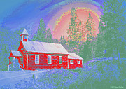 Lewiston Digital Art Prints - The Old Schoolhouse Library Print by Joyce Dickens