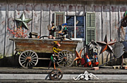 Old Objects Digital Art Posters - The Old Shed Poster by Mary Machare