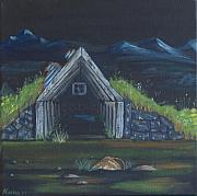 Turf Paintings - The old sheep shack  by Ninna