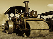 Road Roller Framed Prints - The old steam roller Framed Print by Rob Hawkins