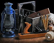 Old Toolbox Pyrography Metal Prints - The Old Toolbox Metal Print by Krasimir Tolev