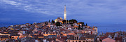 Rovinj Posters - The Old Town And St Euphemia Church, Rovinj Poster by Jeremy Woodhouse