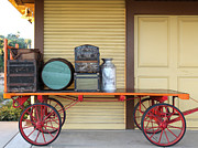 Wagon Photos - The Old Train Depot  - 5D18420 by Wingsdomain Art and Photography
