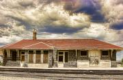 Train Pictures Prints - The Old Train Stop Print by James Bo Insogna