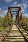Vintage River Scenes Prints - The Old Trestle Print by Debra and Dave Vanderlaan