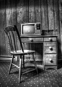 Vintage Chair Prints - the old TV Print by Scott Norris