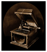 Edison Prints - The Old Victrola Print by Mark Fuller