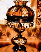 Old Objects Digital Art - The Old Vintage Lamp by Tisha McGee