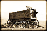 Sephia Photo Framed Prints - The Old Wagon Framed Print by Steve McKinzie