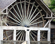 The Old Waterwheel Print by April Wietrecki Green