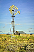 Horse And Buggy Posters - The Old Windmill Poster by Steve McKinzie