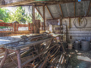 Rocking Chairs Photos - The Old Workshed by Cindy Nunn