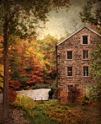 Grist Mill Digital Art - The Olde Country Mill by Jessica Jenney