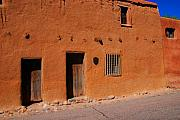Santa Fe Framed Prints - The oldest house in the U.S.A. Framed Print by Susanne Van Hulst