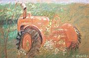 Farming Pastels Framed Prints - The Ole Allis Chalmers Framed Print by Ron Bowles