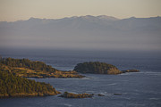 Strait Of Juan De Fuca Posters - The Olympic Mountain Range Seen Poster by Taylor S. Kennedy