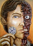 Two Face Prints - The only morality in a cruel world is chance Print by Al  Molina