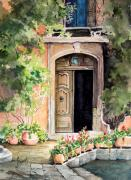 Door Paintings - The Open Door by Sam Sidders