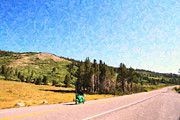 Mountain Road Digital Art Posters - The Open Road Poster by Wingsdomain Art and Photography