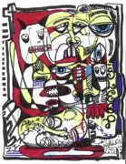 Modern Abstract Art Drawings - The Operation by Robert Wolverton Jr
