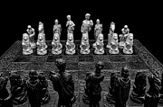 Chess Set Framed Prints - The Opponents View Framed Print by Doug Long
