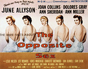 Dolores Framed Prints - The Opposite Sex, June Allyson, Joan Framed Print by Everett