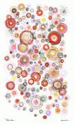 Polka Drawings Prints - The Orbits Of Joy Print by Regina Valluzzi