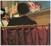 Bank Art Prints - The Orchestra Pit Print by Everett Shinn