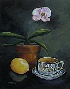 Tea Party Paintings - The Orchid and the Dragon  by Torrie Smiley