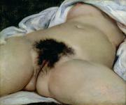 The Origin Of The World Print by Gustave Courbet